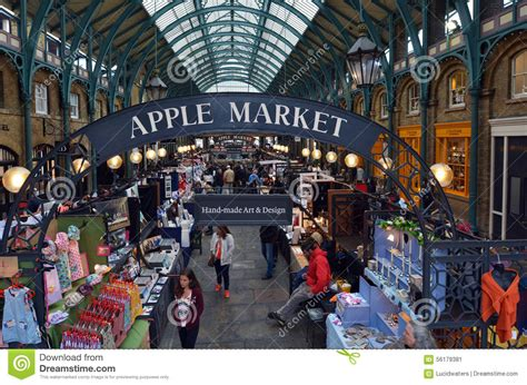 covent garden craft market visitors in apple market in covent garden in uk