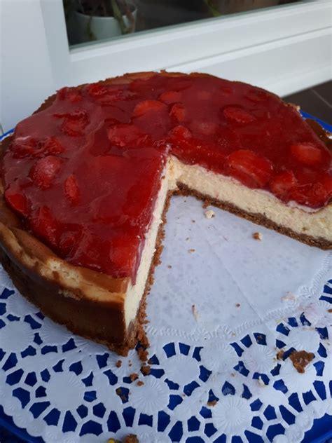 Cheesecake Rezept Erdbeer by Erdbeer Cheesecake Dirkfenske Chefkoch De