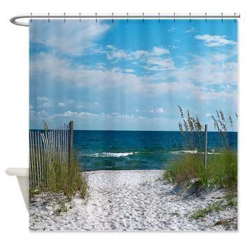 beach scene shower curtain beach fence shower curtain new leander home pinterest