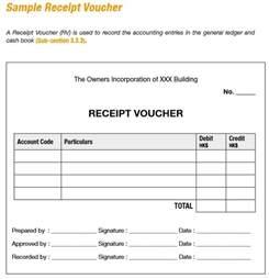 Receipt Voucher Template 9 Free Sample Receipt Voucher Templates Printable Samples