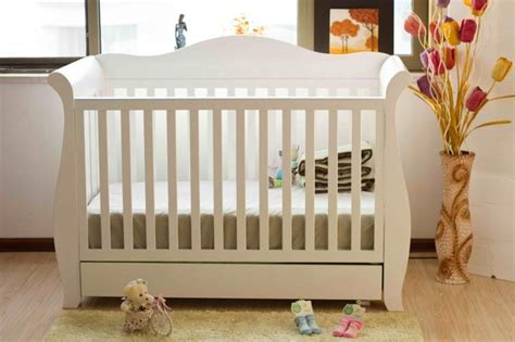 3 in 1 sleigh cot with drawer white traditional cribs
