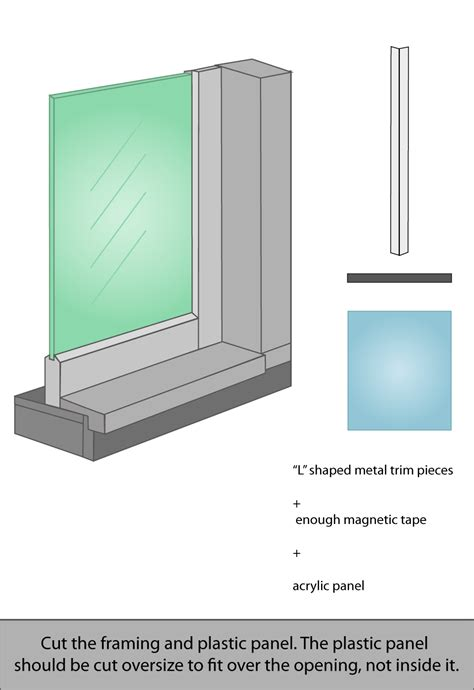 transparent window covering interior windows for sound with magnetic strips