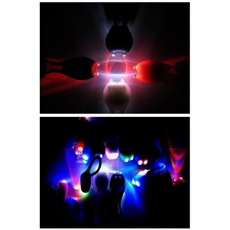 bicycle tadpole light multi colour led mountain bike flashlight 2 pcs black jakartanotebook