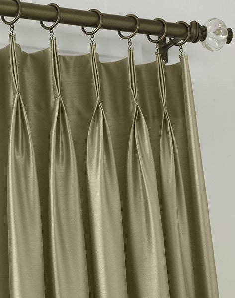 pinch pleat draw drapes pleats tabs eyelets figure out the curtain heading to