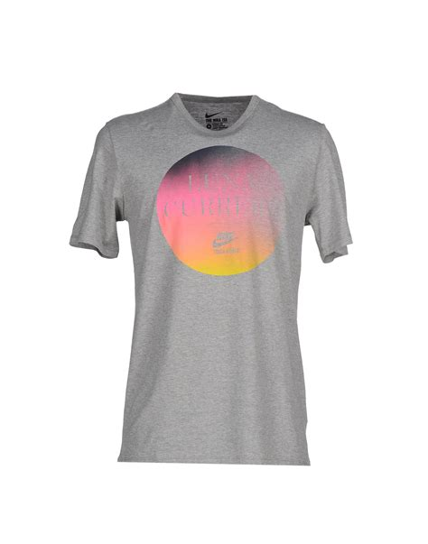 T Shirt Grey Nike 6 0 nike t shirt in gray for lyst