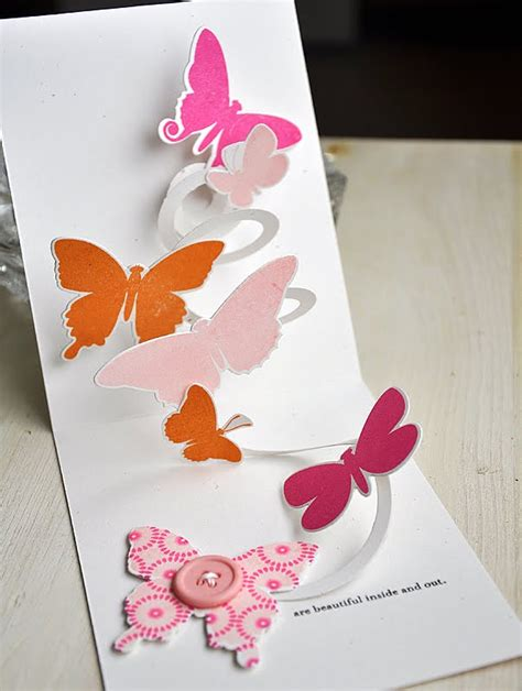 Pop Up Card Flowery Big simply sted movers shakers