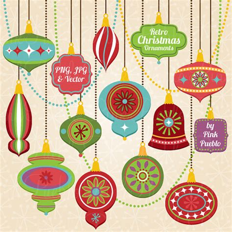 retro christmas ornament clipart clip art vintage christmas