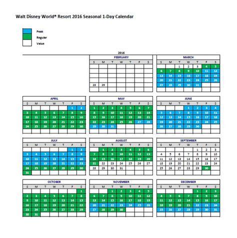 Disneyland Blackout Calendar Seasonal Pricing Breakdown For Walt Disney World