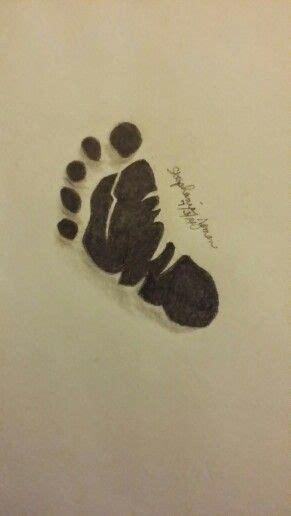 25 Best Ideas About Baby Footprint Tattoo On Pinterest Baby Footprint Designs 2