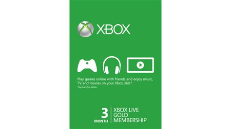 Buy Xbox Live Gift Card - xbox live 3 month gold card