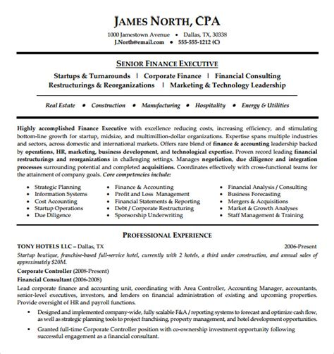 consultant resume template 7 free sles exles formats sle templates