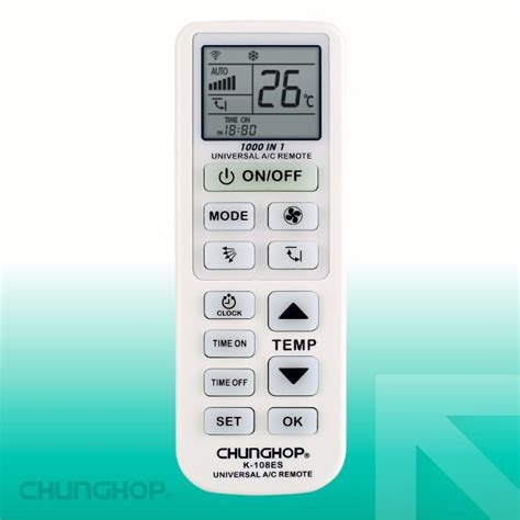 Chunghop Universal Ac Remote Controller K 1000e chunghop universal ac remote controller k 108es white jakartanotebook
