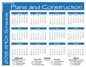 2018 Calendar Images Ahca Plans And Construction 2018 Schedule Calendar