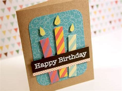 How To Make Paper Birthday Cards - happy birthday paper pieced candles make a card monday