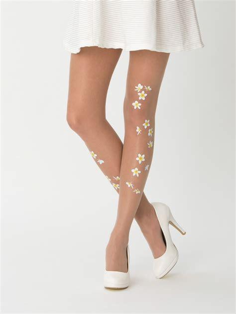 flower pattern hosiery frangipani flower tights virivee tights