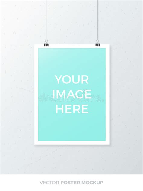 hanging poster stock illustration image 55507025 vector poster mockup stock vector illustration of hanging