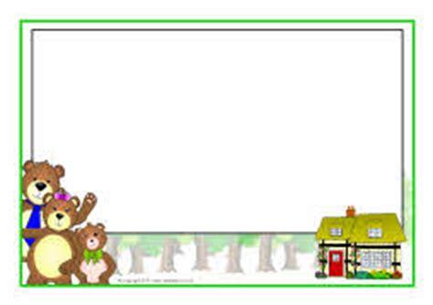 goldilocks and the three bears a4 page borders (sb4451