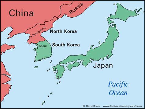 map usa korea map usa korea