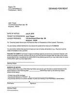 Rent Demand Letter Missouri Eviction Notice Forms Eviction Warnings Ez Landlord Forms