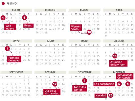 Calendario 2018 Laboral España Calendario Laboral 2018 En Espa 241 A Con Todos Los Festivos