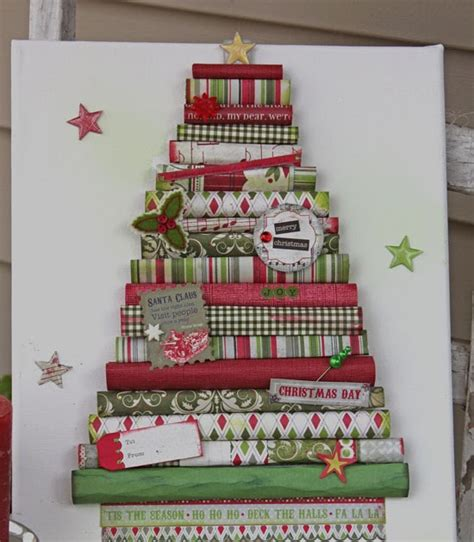 bits of me rolled paper christmas tree canvas