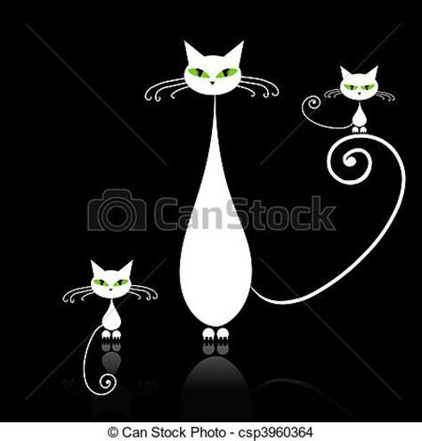 imagenes en blanco y negro gatitos eps vector de ojos familia gatos gato verde madre