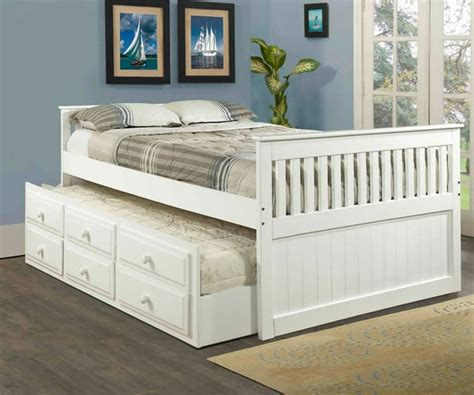 white full size bed mission full size captains trundle bed white bedroom