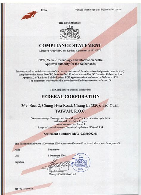 federal tyres corporate certificate awards