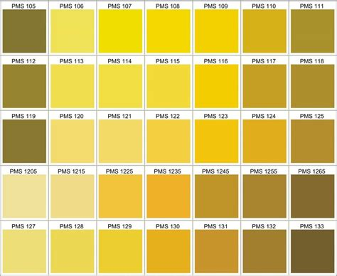 yellow color code pms color chart choose your own silicone bracelets