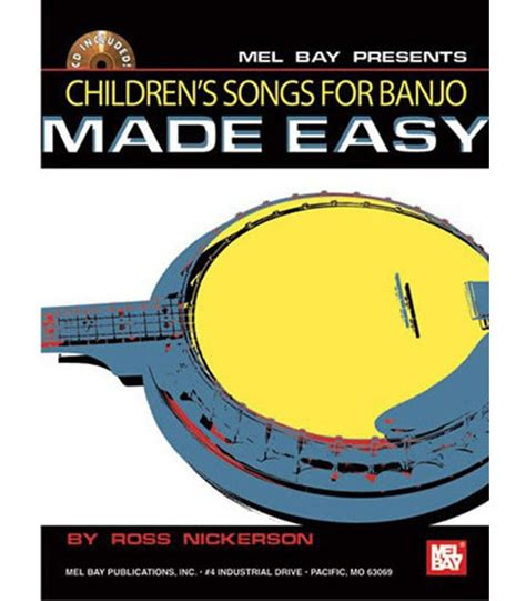 easy banjo songbook for beginners with audio access banjo primer books children s book for the banjo direct from the author