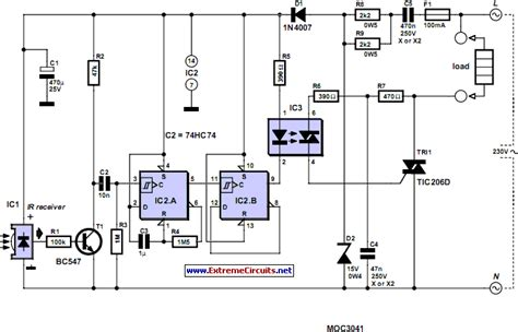 remote light switch circuit diagram infrared circuit page 6 light laser led circuits next gr