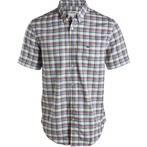 lacoste sleeve checked shirt tdf fashion