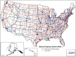 us numbered highways map national highway system united states