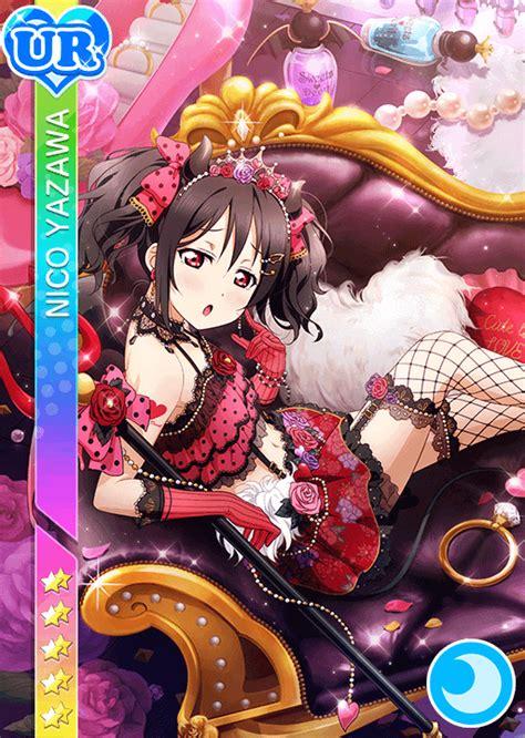 live school idol festival card template ur school idol tomodachi cards album 909 yazawa nico ur