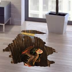 3d floor jurassic dinosaur wall sticker wallpaper kids 3d wall sticker decal art decor vinyl wallpaper waterproof