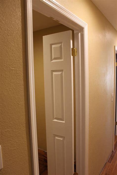 Bedroom Door Can Be Pushed Open The Master Closet Doors Are Installed Huebsch House