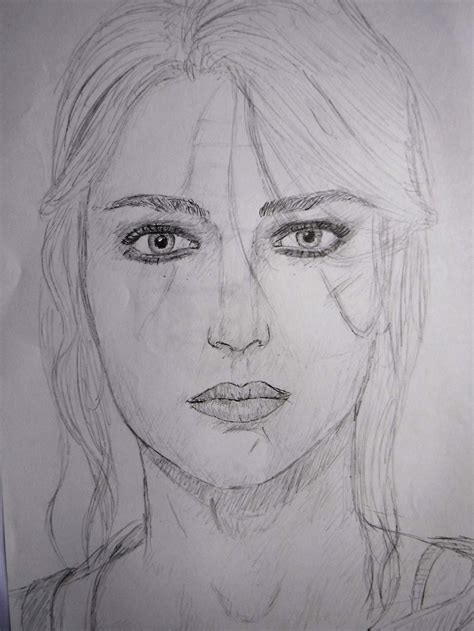 Witcher 3 Sketches by Ciri Drawing The Witcher 3 By Aqwaqwaq8 On Deviantart