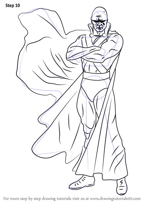 step by step how to draw martian manhunter