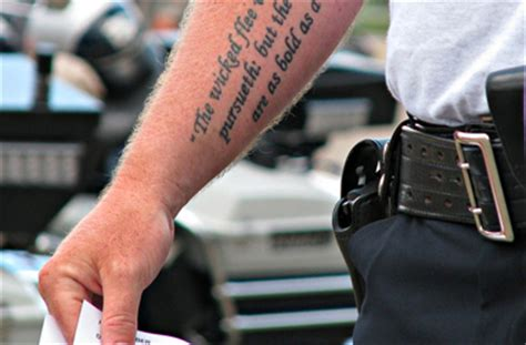 police tattoo policy designs ideas pictures