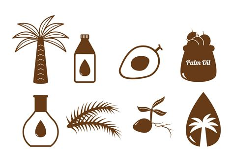 Palm Trees With Orange Fruit - palm oil vector download free vector art stock graphics amp images
