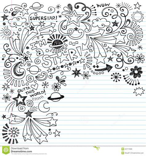 doodle doodle do doodle inky do vetor da estrela mundial dos doodles do