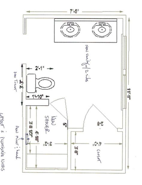bathroom blueprints for 8x10 space home design 8 x 10 master bathroom layout google search bathroom