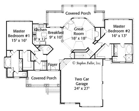 house plans with two master suites on floor 301 moved permanently
