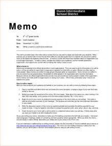 Business Memo Templates by 8 Memo Exles Memo Formats