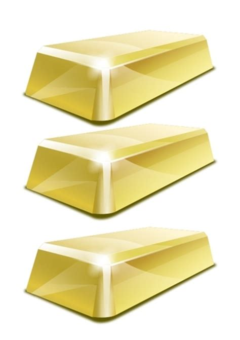 Gold Craft Paper - gold bar bullion paper template free printable