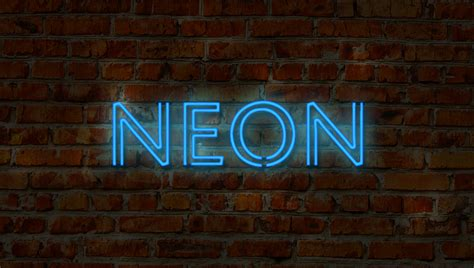 How To Make A Neon Sign In Photoshop Shutterstock Neon Sign Photoshop Template