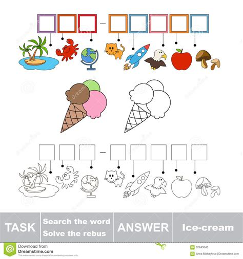 printable ice cream word games vector game find hidden word ice cream search the word