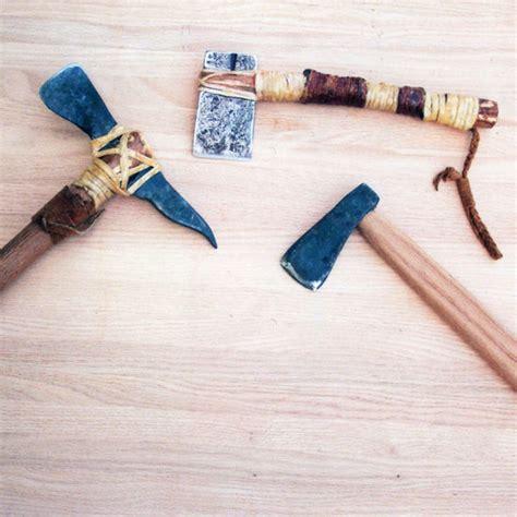 Handmade Survival Tools - how to make primitive tools pt 3 diy axes tools