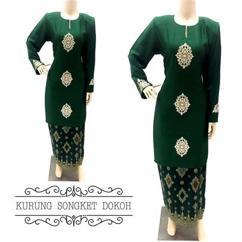 Baju Kurung Hijau baju kurung moden songket dokoh ii all sold out saeeda collections