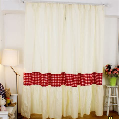 red country curtains designed red white plaid country curtains for living room